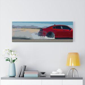 Dodge Charger SRT Hellcat Canvas Print - RevRepublic | Driving Automotive Culture