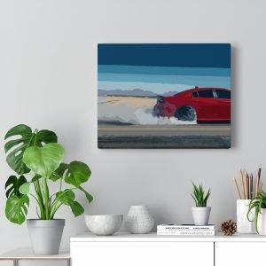 Dodge Charger SRT Hellcat Canvas Print - RevRepublic   Driving Automotive Culture